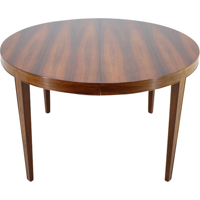 Vintage extendable table for Haslev Møbelsnedkeri in rosewood 1960s