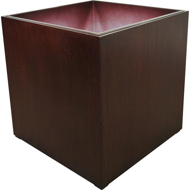 Vintage flower box in mahogany, Germany, 1970s