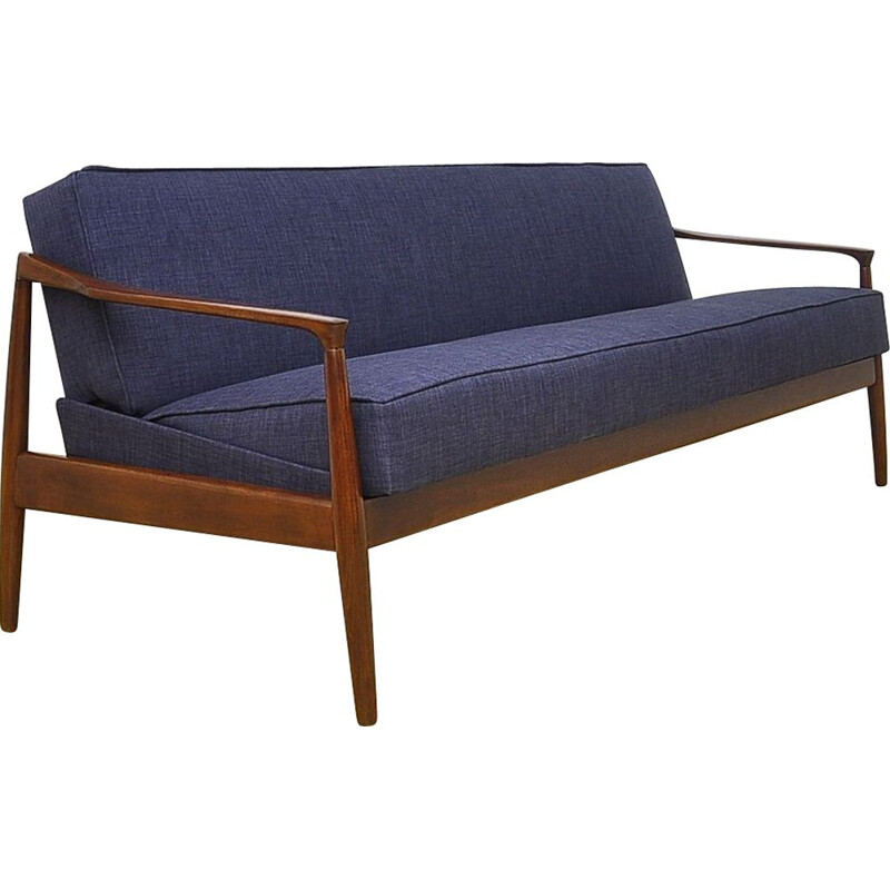 Vintage sofa bed in beech, 1960s
