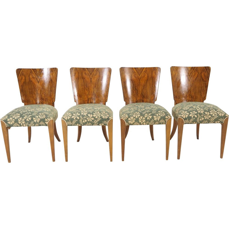 Set of 4 vintage dining chairs by Jindřich Halabala, 1930