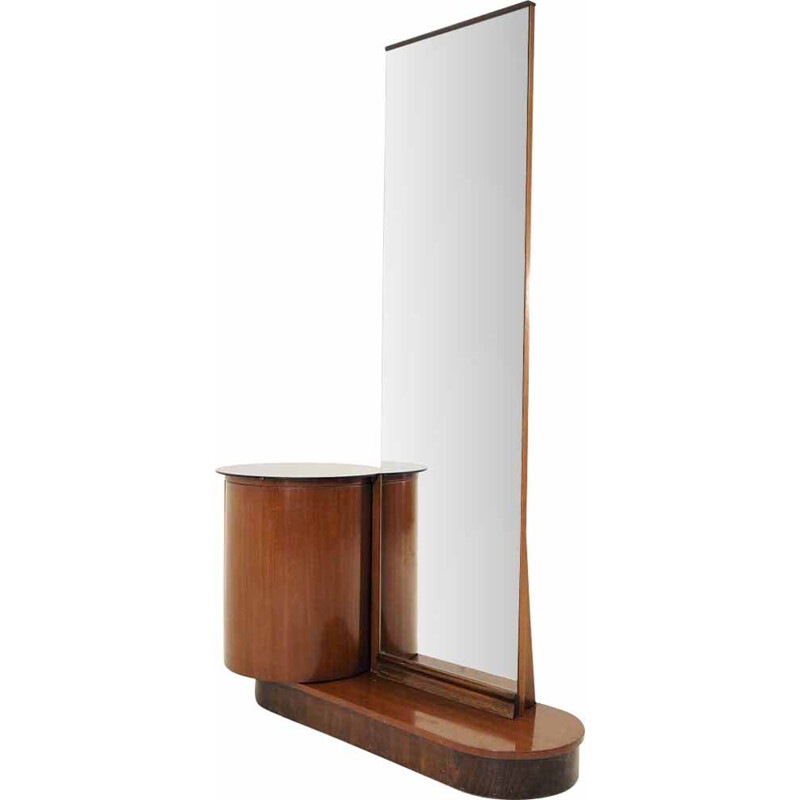 Vintage dressing table with mirror by Jindřich Halabala for UP Závody, 1930s