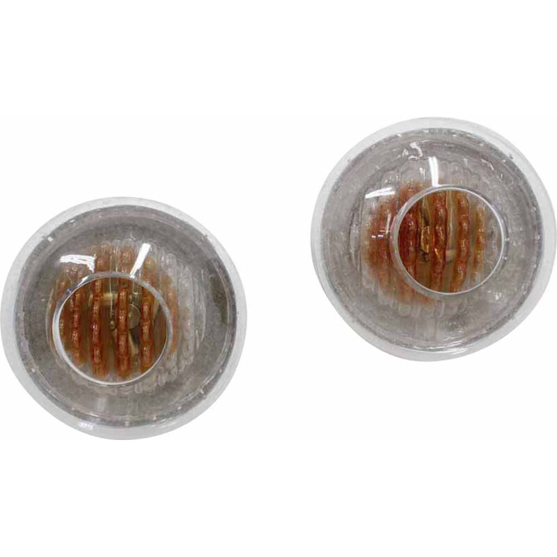 Pair of 2 vintage glass round sconces by Toni Zuccheri, 1970s