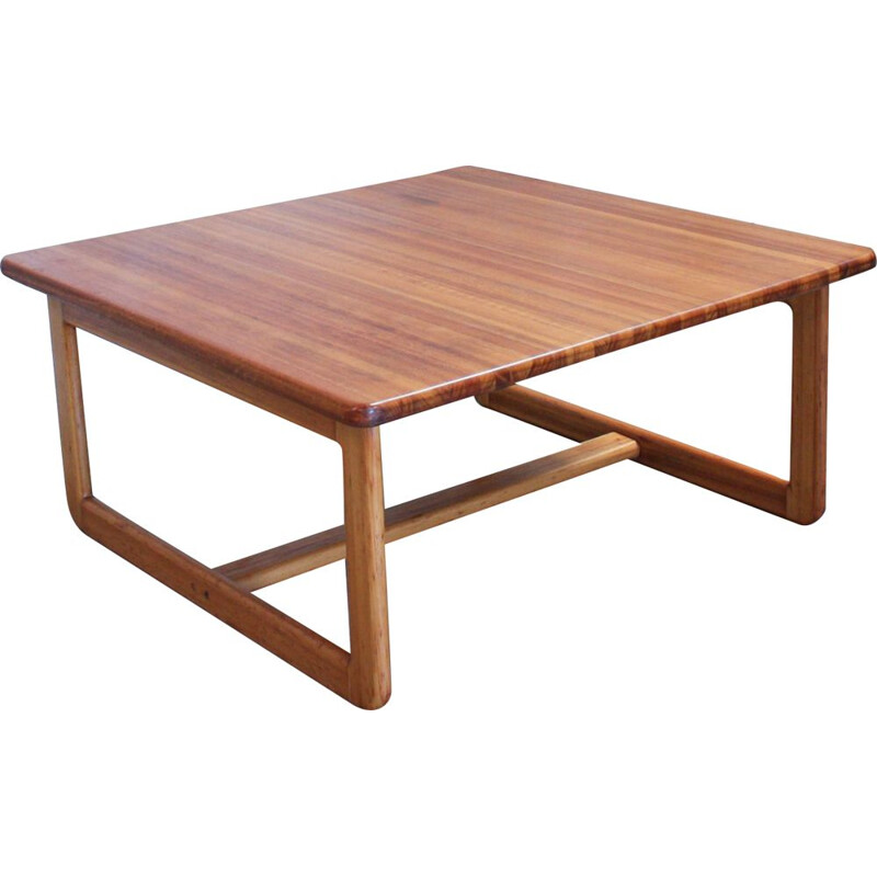 Vintage British Square Coffee Table in Oak, 1960s