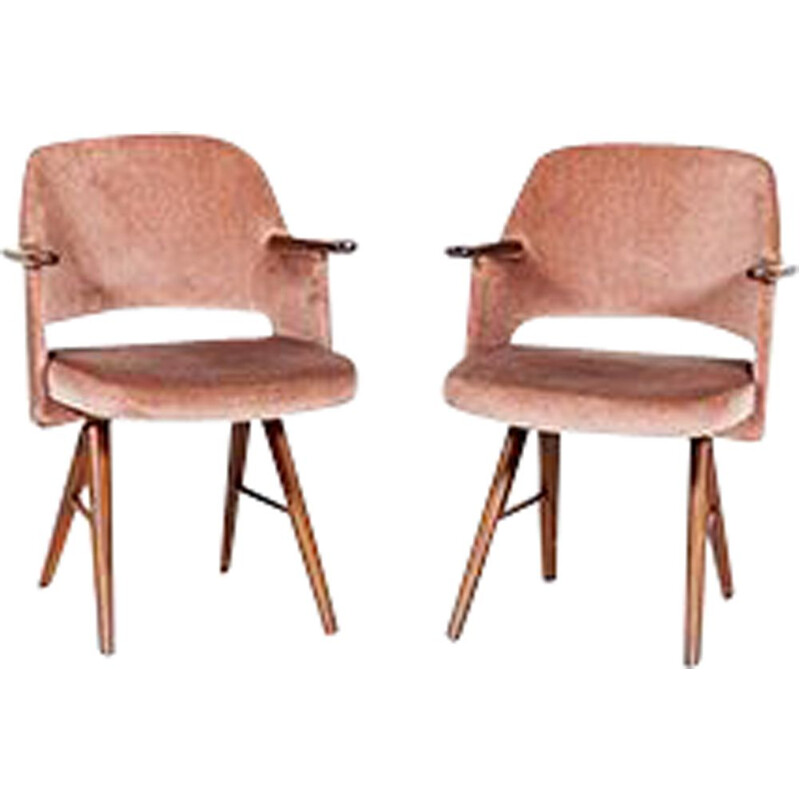 Vintage Pair of Armchairs FT30 inTeak by Cees Braakman for Pastoe, 1950s