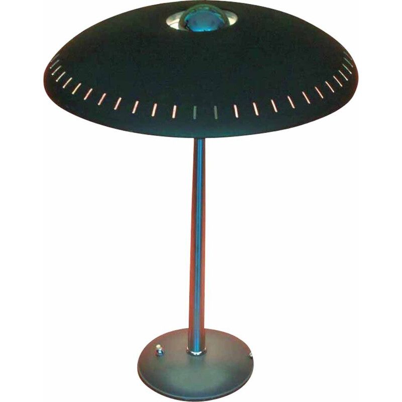 Vintage Desk Lamp Evoluon green by Louis Kalff for Philips, 1950s 1960s