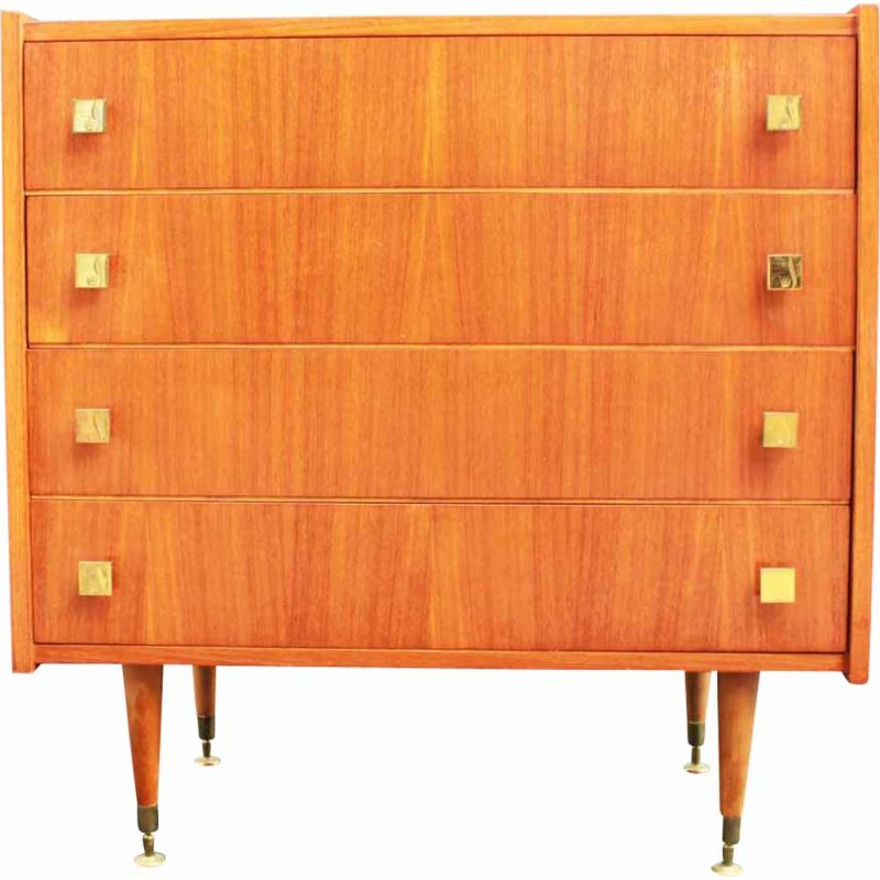 Scandinavian-style vintage chest of drawers with 4 drawers, 1960s