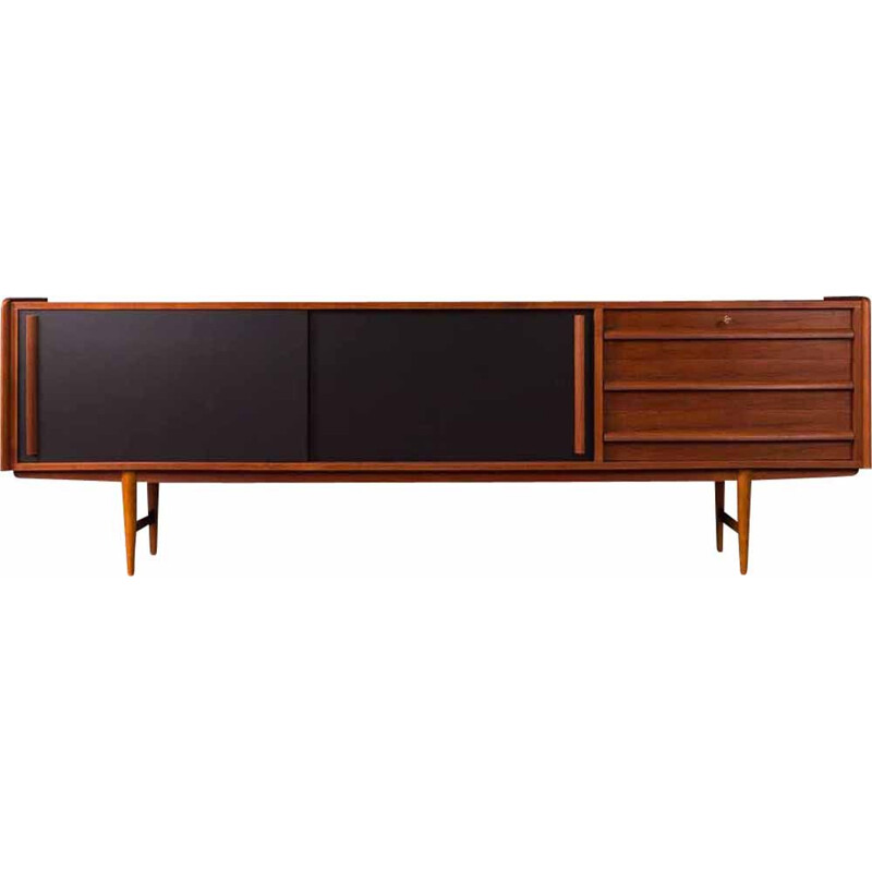 Vintage German sideboard in teak, 1950s