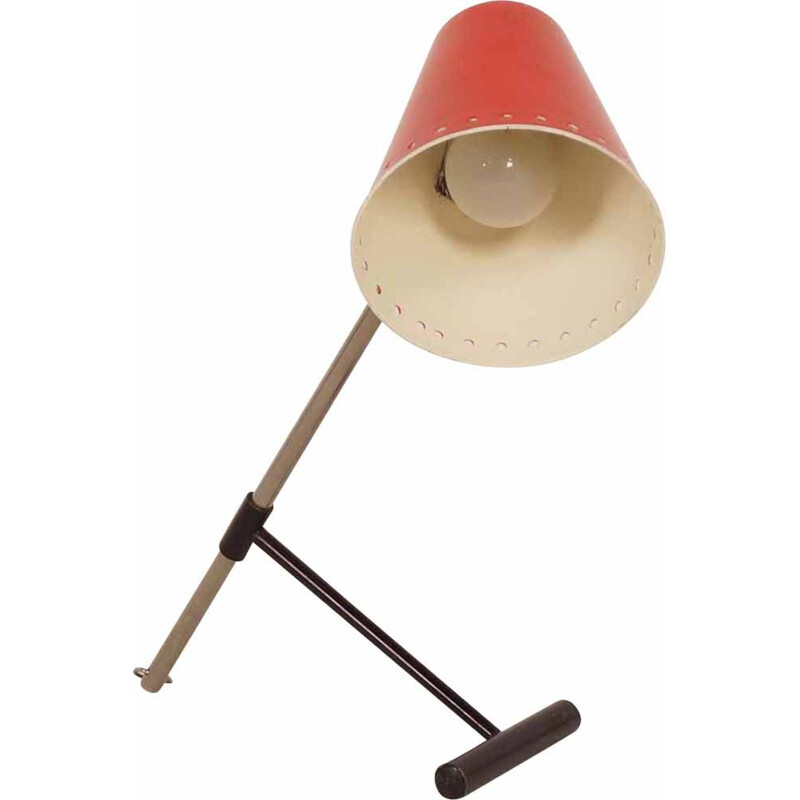 Vintage red Bambi desk lamp by Floris Fiedeldij for Artimeta, 1950s
