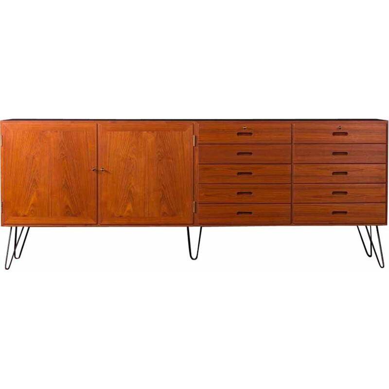Vintage Danish sideboard in teak by Kai winding for Poul Jepesen, 1960s
