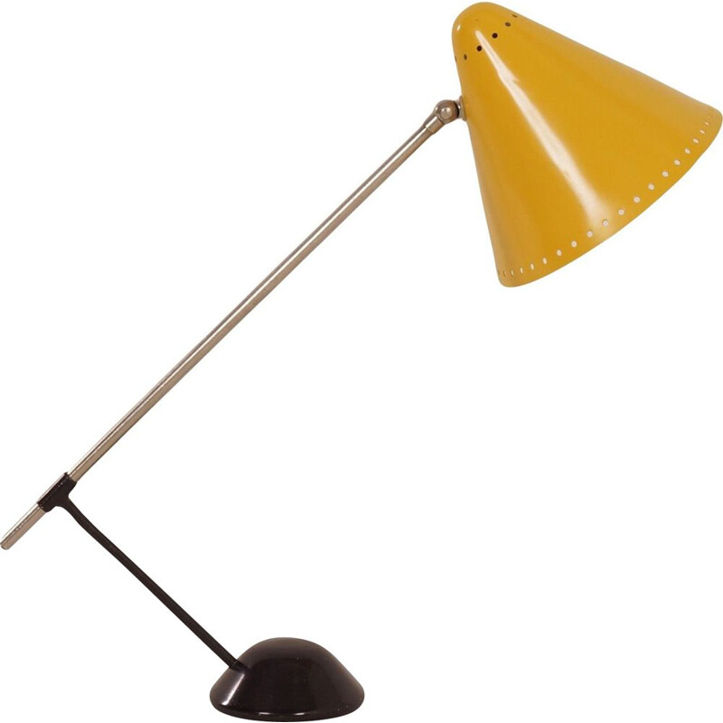 "Vintage yellow ""M1"" desk lamp by Floris Fiedeldij for Artimeta,1956s"