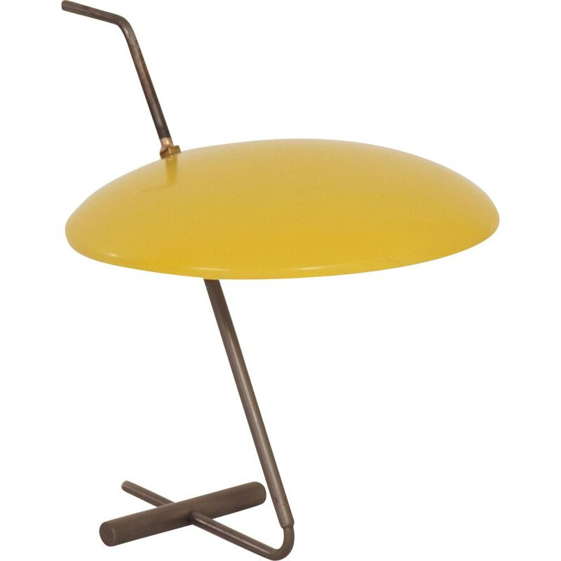 Vintage yellow desk lamp by Hoogervorst for Anvia, 1950s