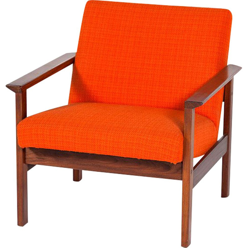 Vintage danish armchair in rosewood and wool 1960s