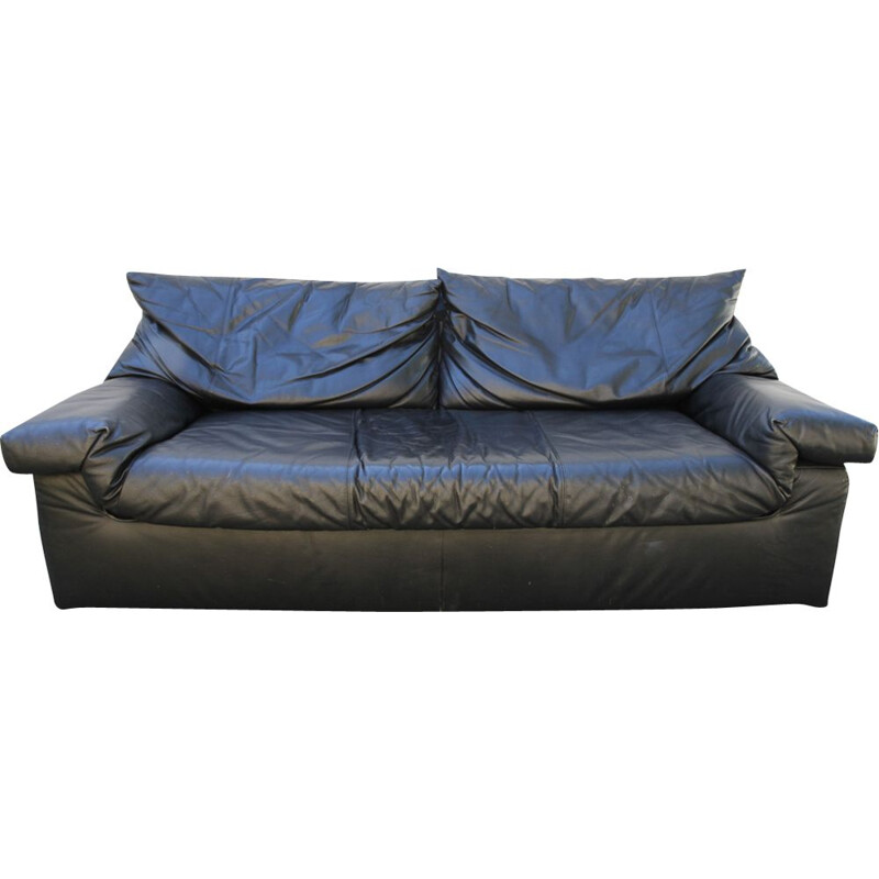 Vintage leather sofa by Cinna from the 90s