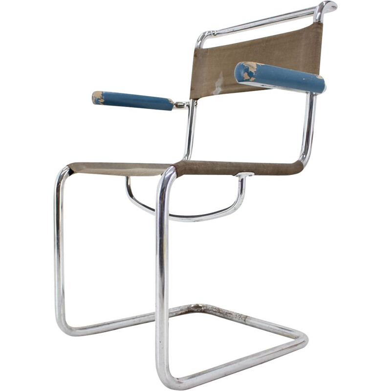 Vintage Bauhaus chrome chair by Mart Sam 1930s