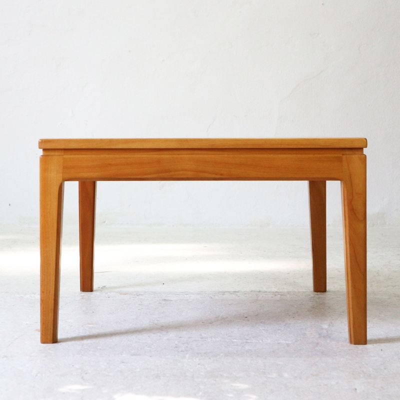 Small Square Coffee Table In Cherrywood 1960s