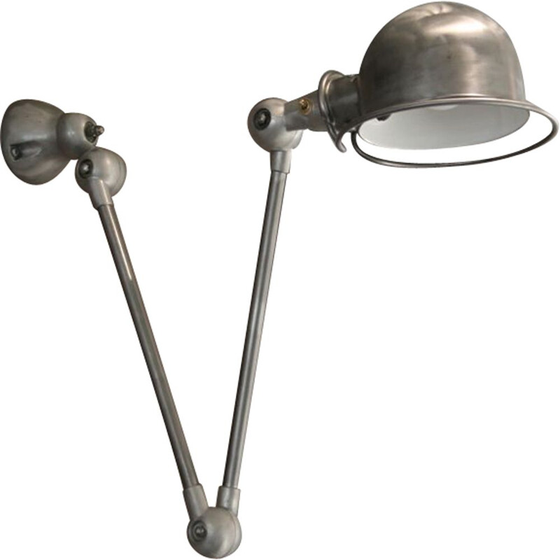 Vintage wall lamp by Jean Louis Domecq for Jieldé Industrial, 1950s