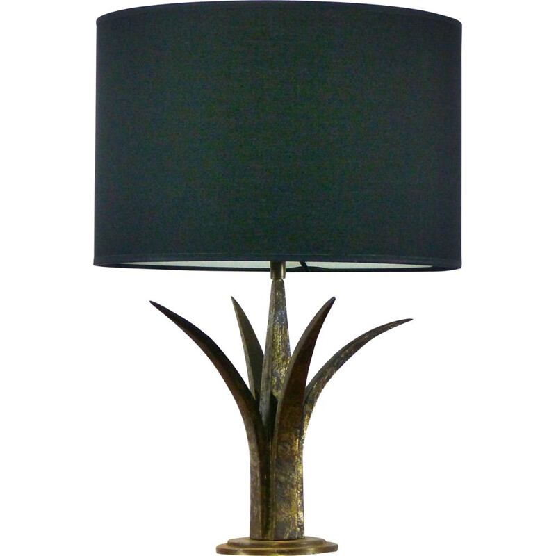 Vintage wrought iron table lamp, 1940