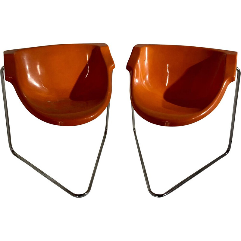 Pair of 2 chairs by Pussycat Kwok Hoi Chan, 1970