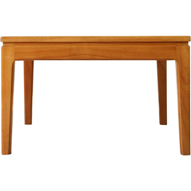 Small square coffee table in cherrywood, 1960s