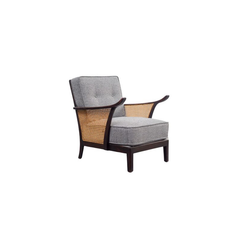 Vintage armchair with meshwork, 1950s