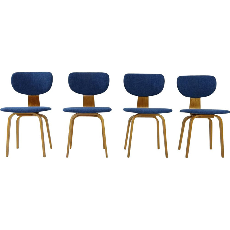 Set of 4 vintage dinner chairs CB02 by Cees Braakman for UMS Pastoe, 1950s