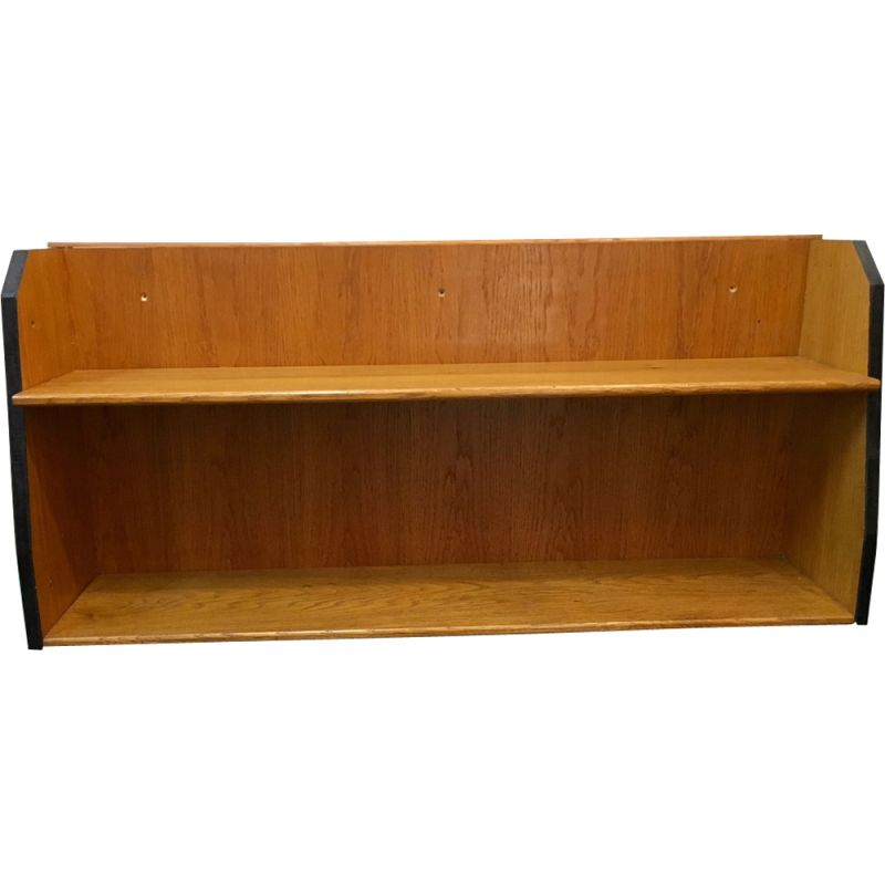 Large vintage french wooden shelf from the 1950s