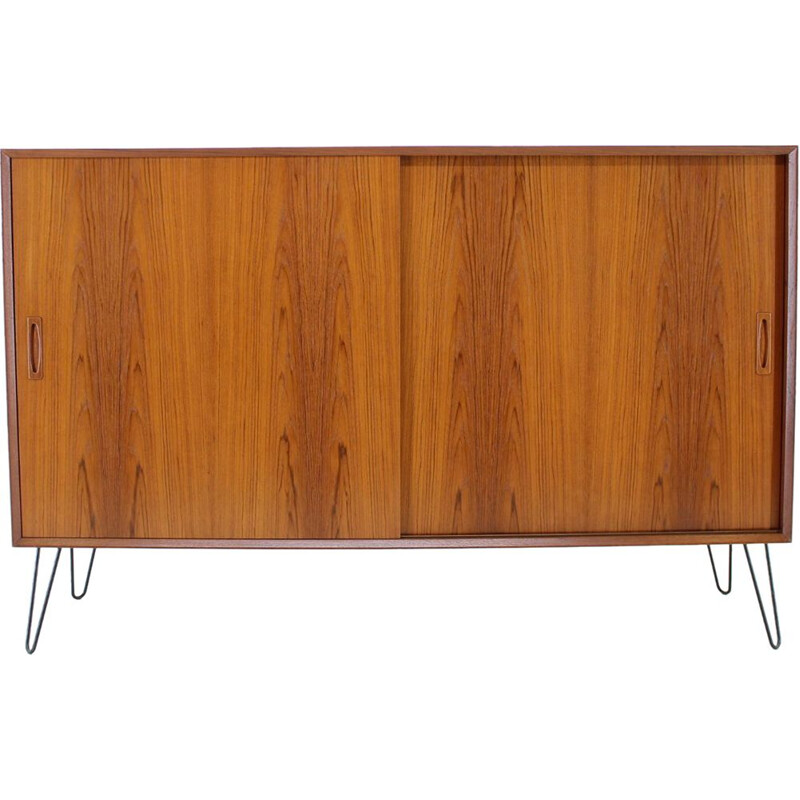 Vintage Danish Sideboard in Teack with Iron legs, 1960s