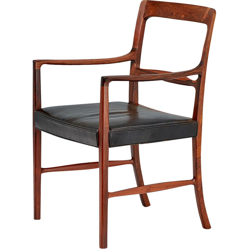 Vintage armchair for A.J. Iversen in rosewood 1950s