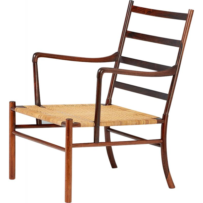 Vintage PJ-149 Colonial chair for Poul Jeppesen in rosewood 1940s