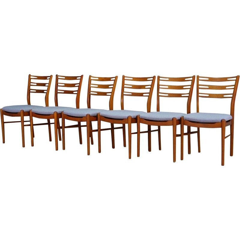 Set of 6 vintage chairs teak Danish retro