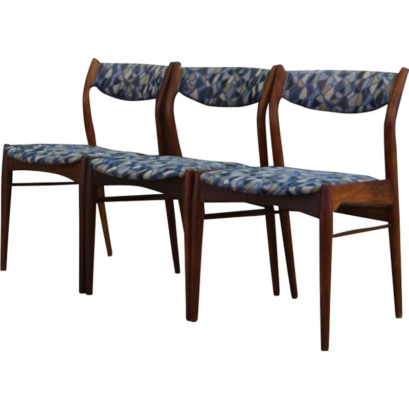 Set of 3 vintage teak chairs Danish Design