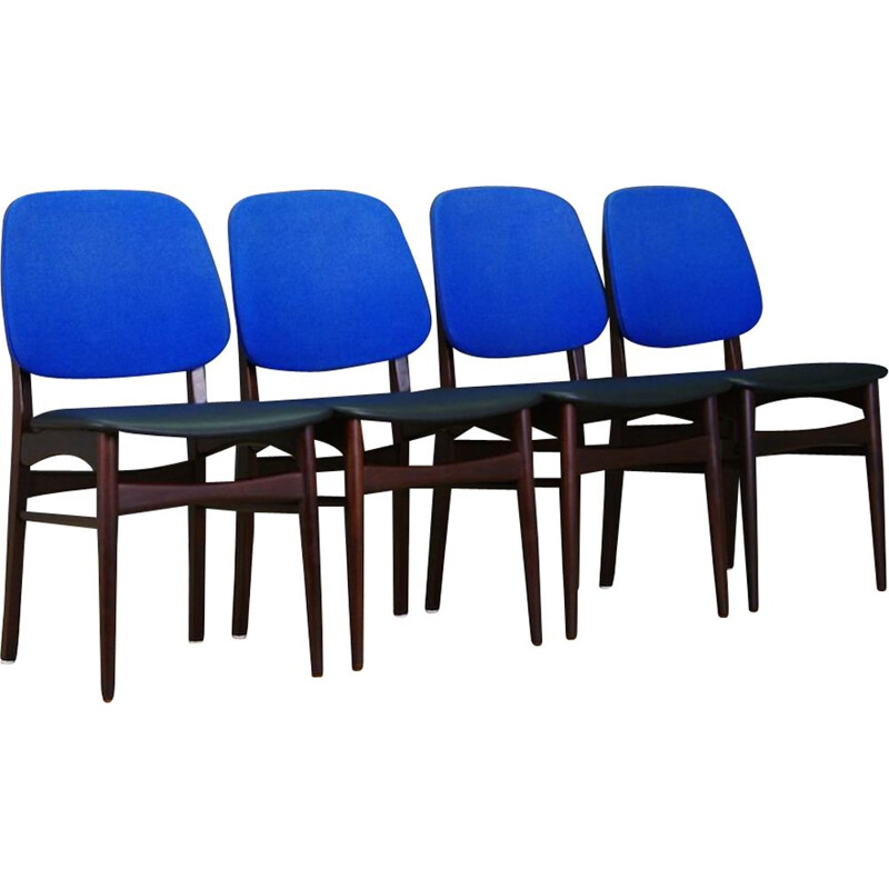 Set of 4 vintage Mahogany chairs Vintage Danish Design