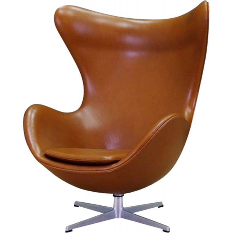 Vintage Arne Jacobsen Egg Chair Elegance in leather