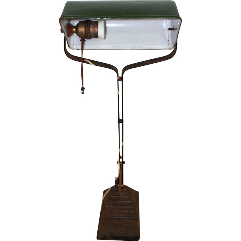 Vintage green desk lamp, 1930