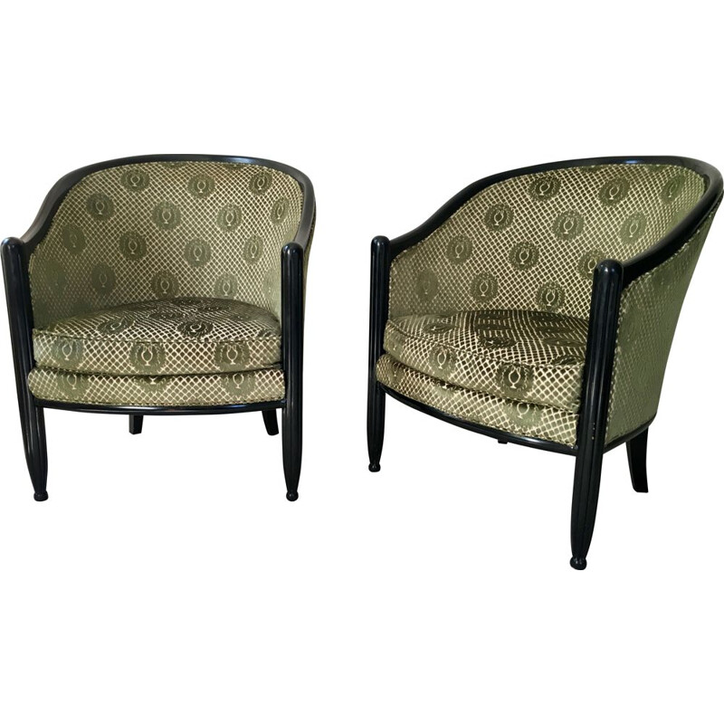 Pair of Velvet Toad chairs