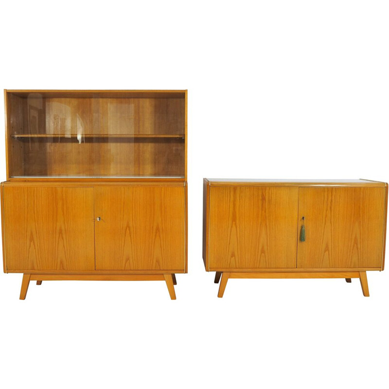 Set of 2 vintage sideboards from Jitona, Czech, 1960s