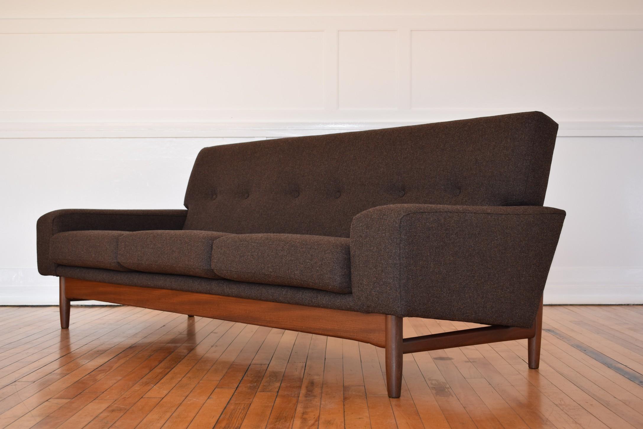Vintage G Plan Sofa In Teak And Grey Wool Ib Kofod Larsen