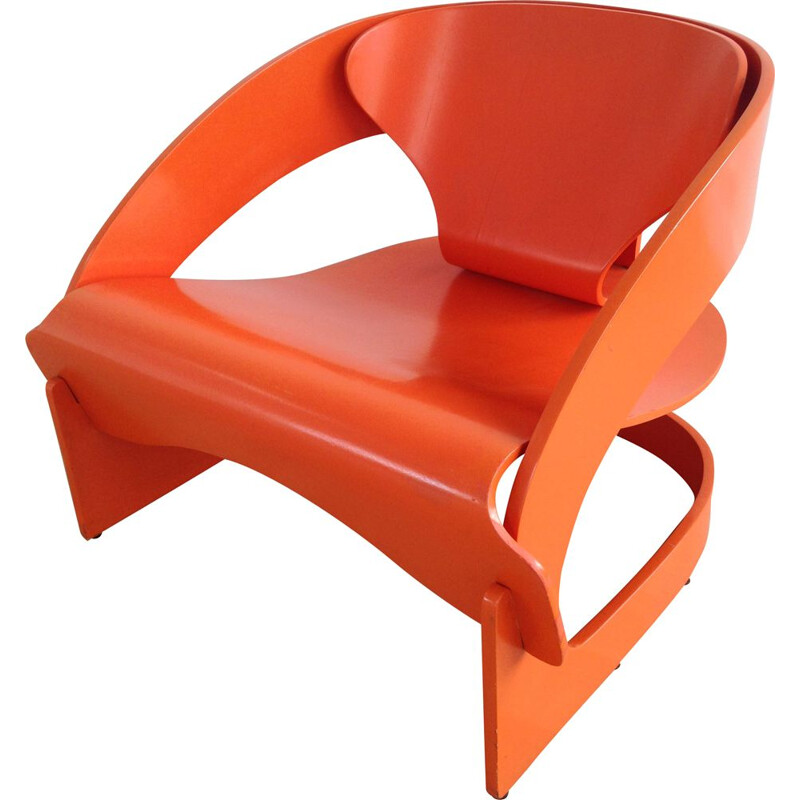 Vintage Armchair by Joe Colombo, 4801 Model for Kartell, Italy 1960s