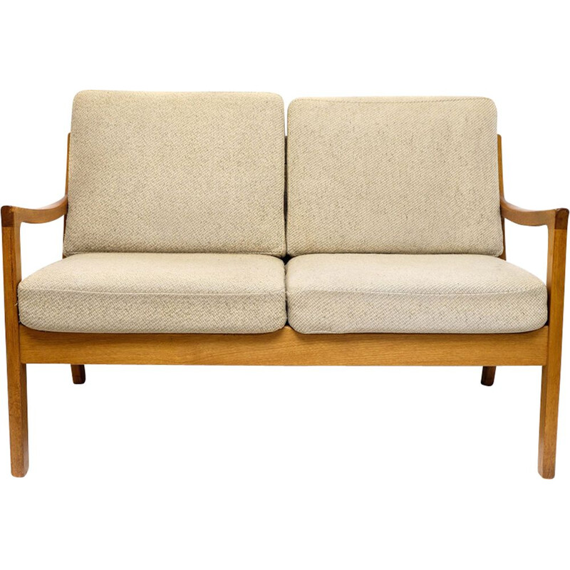 Senator sofa in teak and beige wool by Ole Wanscher