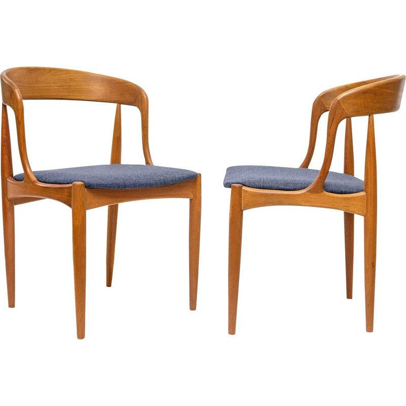 Pair of vintage teak chairs by Johannes Andersen for Uldum
