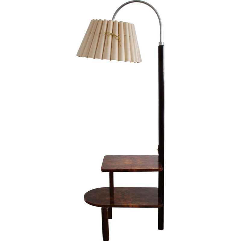 Vintage floor lamp in ash and walnut