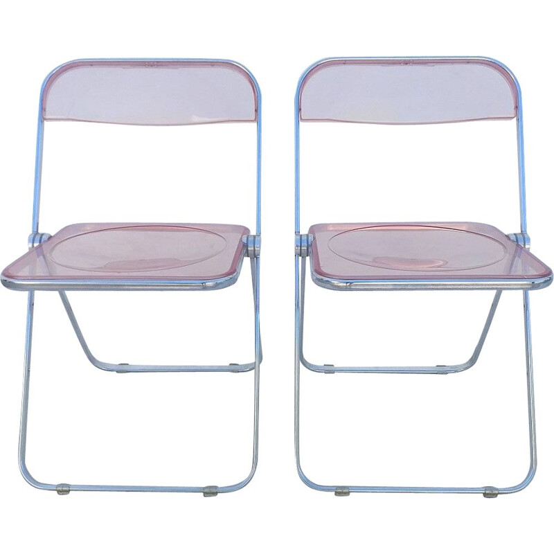 Pair of vintage Plia chairs by Giancarlo Piretti