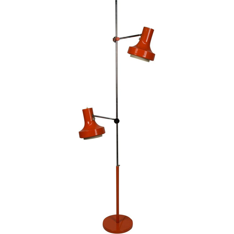 Vintage red floor lamp by Josef Hurka for Napako