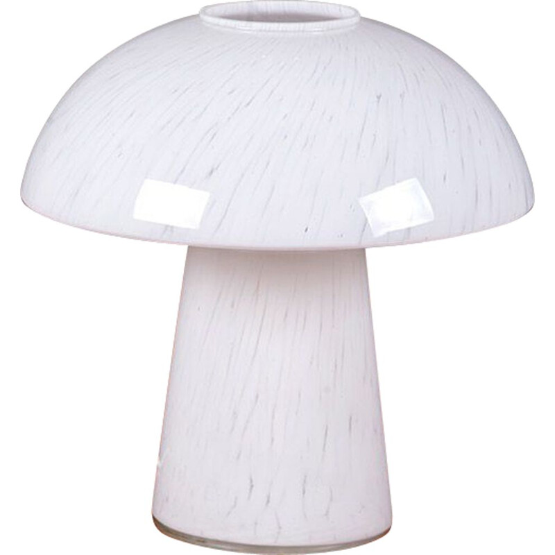 Vintage glass mushroom table lamp from Peill & Putzler, 1960s