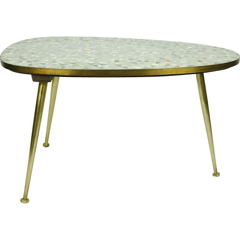 Vintage mosaic side table by Ilse Möbel, 1950s