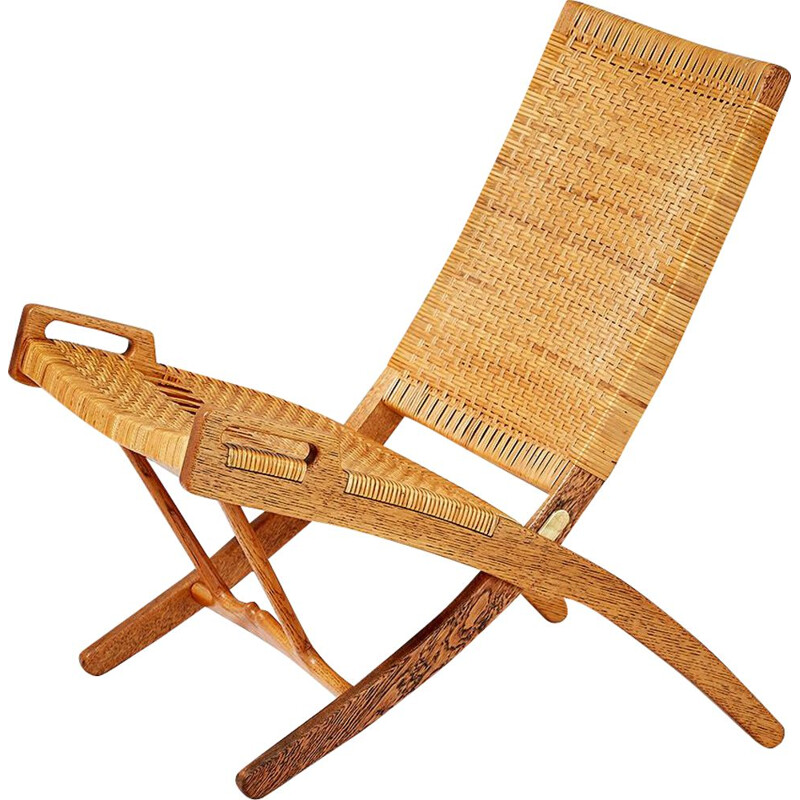 "Vintage ""JH-512"" oak folding chair by Hans Wegner, 1949"