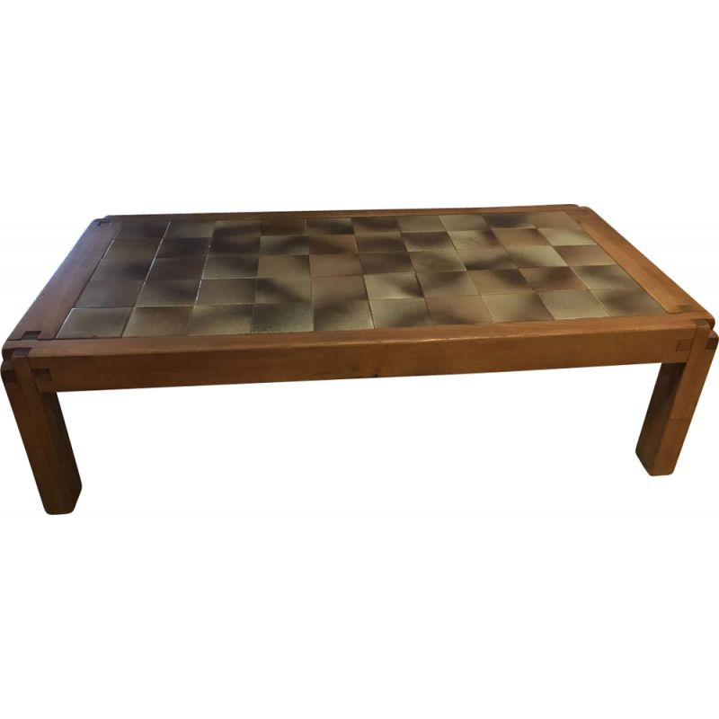 Vintage coffee table by Pierre Chapo, 1975