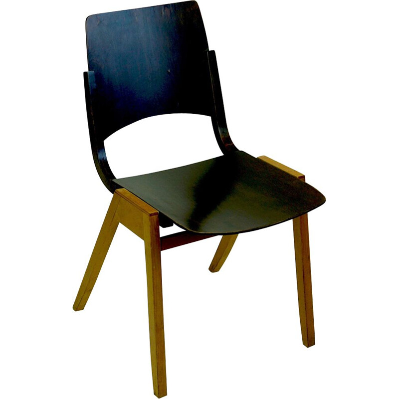 Vintage Austrian Modernist P7 Chair by Roland Rainer, 1950s