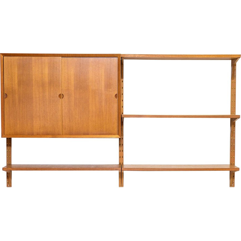 Vintage Teak Wall Shelves by Poul Cadovius, 1950s