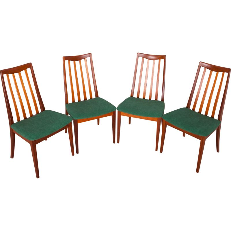 Set of 4 vintage chairs for G-Plan in teak and fabric 1960s